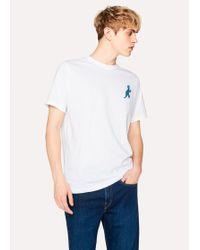 Paul Smith - Men's White 'dino' Print Cotton T-shirt - Lyst