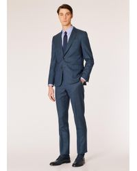 Paul Smith - The Soho - Tailored-fit Dark Teal Windowpane Check Wool Suit - Lyst