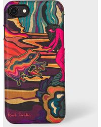 Paul Smith - 'Dreamer' Print Leather iPhone 6/6S/7/8 Case - Lyst