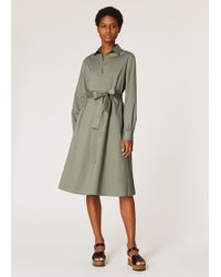 Paul Smith - Khaki Cotton Shirt Dress - Lyst