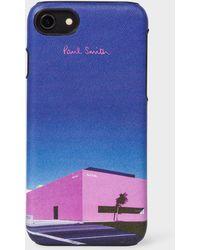 Paul Smith - 'LA Shop' Leather iPhone 6/6S/7/8 Case - Lyst