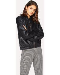 Women S Paul Smith Leather Jackets Online Sale
