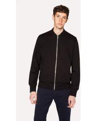 Paul Smith | Men's Black Organic Loopback-Cotton Bomber Jacket | Lyst