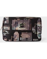 Paul Smith - Camouflage 'Paul's Camera' Print Canvas Wash Bag - Lyst