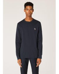 Paul Smith - Long Sleeve Zebra Logo Tee - Lyst
