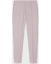 Paul Smith - Slim-Fit White Cotton-Stretch Check Trouser - Lyst