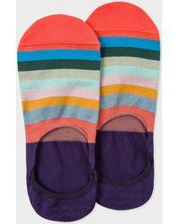 Paul Smith - Purple 'Artist Stripe' Loafer Socks - Lyst