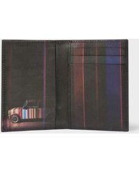 Paul Smith | Men's Black 'mini' Print Interior Leather Credit Card Wallet | Lyst