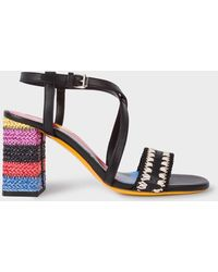 Paul Smith - Black Vachetta Leather 'Juliette' Sandals - Lyst