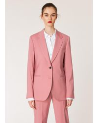 Paul Smith - Dusky Pink Two-button Wool Blazer - Lyst