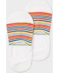Paul Smith - Écru Multi-colour Striped Loafer Socks - Lyst