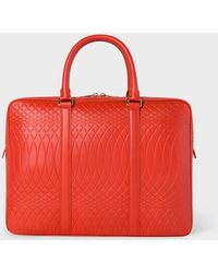 Paul Smith - No.9 - Red Leather Slim Business Folio - Lyst