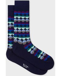 Paul Smith - Navy 'Sunset Spot' Socks - Lyst