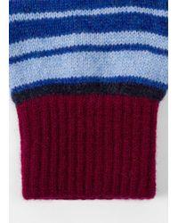 Paul Smith | Men's Burgundy Stripe Lambswool Gloves | Lyst