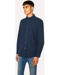 Paul Smith - Tailored-Fit Navy Corduroy Shirt - Lyst