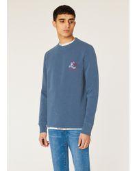 0fce5bab9a37 Paul Smith - Washed Blue  cycling Monkey  Print Sweatshirt - Lyst