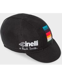 Paul Smith - Cinelli Black 'Artist Stripe' Detail Cycling Cap - Lyst