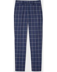 Paul Smith - Classic-fit Navy Windowpane Check Loro Piana Wool Trousers - Lyst