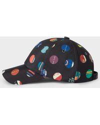 b8ea9047f17ca Paul Smith - Black  Cycle Dot  Print Baseball Cap - Lyst