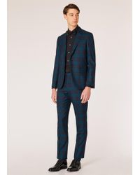 Paul Smith - The Soho - Tailored-fit Green Tartan Wool Suit - Lyst