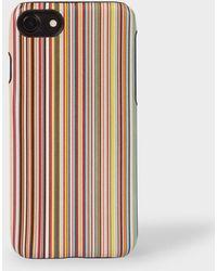 Paul Smith - Signature Stripe Leather iPhone 7/8 Case - Lyst