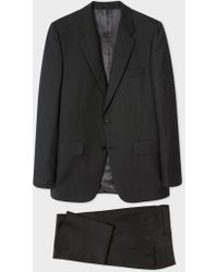 Paul Smith - The Mayfair - Men's Classic-fit Charcoal Wool 'suit To Travel In' - Lyst