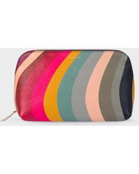 Paul Smith - Swirl Print Leather Make-Up Pouch - Lyst