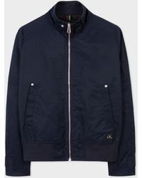 Paul Smith - Navy Cotton-Blend Harrington Jacket - Lyst