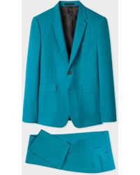 Paul Smith - The Kensington - Slim-fit Turquoise Wool 'a Suit To Travel In' - Lyst