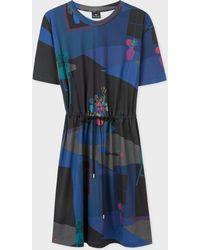 Paul Smith - Navy 'Still Life Bouquet' Print Cotton Dress - Lyst