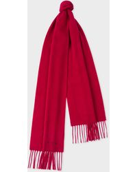 Paul Smith - Men's Red Cashmere Scarf - Lyst
