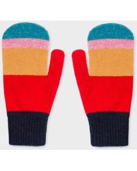 Paul Smith - Vintage Stripe Wool Mittens - Lyst