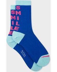 Paul Smith - Blue 'Smile' Socks - Lyst