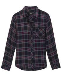 Rails - Hunter Coal Grey Rose Shirt - Lyst