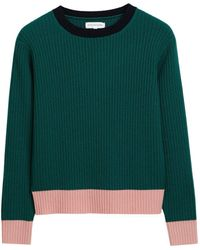 Chinti & Parker - Color-block Ribbed Wool And Cashmere-blend Jumper - Lyst