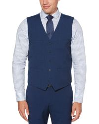 Perry Ellis - Slim Fit Stretch Textured Slub Suit Vest - Lyst