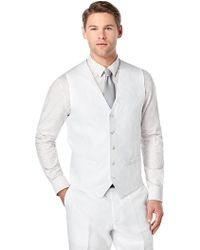 Perry Ellis | Big And Tall Linen Twill Suit Vest | Lyst