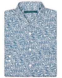 Perry Ellis - Exclusive Scribble Print Shirt - Lyst