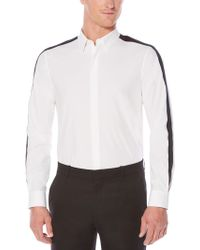 Perry Ellis - Slim Fit Solid Stripe Shirt - Lyst