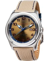 Perry Ellis - Memphis Olive Leather Watch - Lyst