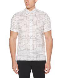 Perry Ellis - Abstract Linear Short-sleeve Shirt - Lyst