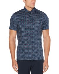 Perry Ellis - Big & Tall Total Stretch Tile Print Shirt - Lyst