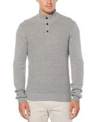 Perry Ellis - Textured Quarter-button Sweater - Lyst