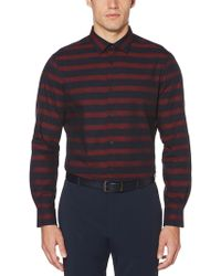 Perry Ellis - Striped Dobby Shirt - Lyst