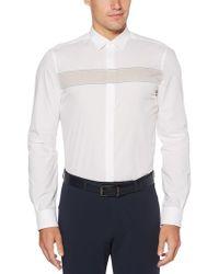 Perry Ellis - Engineered Stripe Shirt - Lyst
