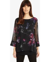 Phase Eight - Shila Cosmo Print Blouse - Lyst