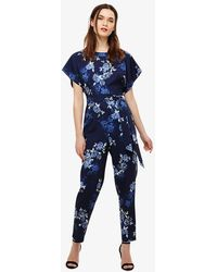 Phase Eight - Berry Floral Jumpsuit - Lyst