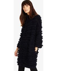 Phase Eight - Filippa Fringe Knitted Coat - Lyst