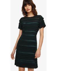 565abd77993 Reiss Gigi Pleat Maxi Dress in Green - Lyst