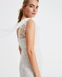 Phase Eight - Anabel Lace One Shoulder Bridal Dress - Lyst